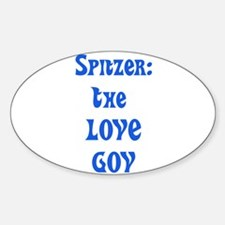 Spitzer: The Love Gov Oval Decal