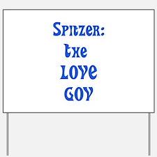 Spitzer: The Love Gov Yard Sign