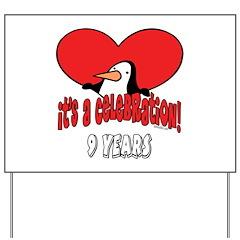 9th Celebration Yard Sign