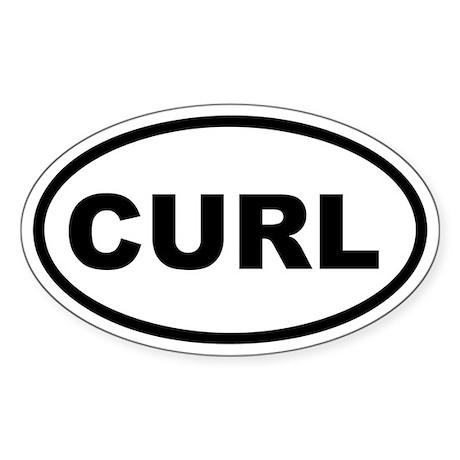 Curl Euro Oval Sticker