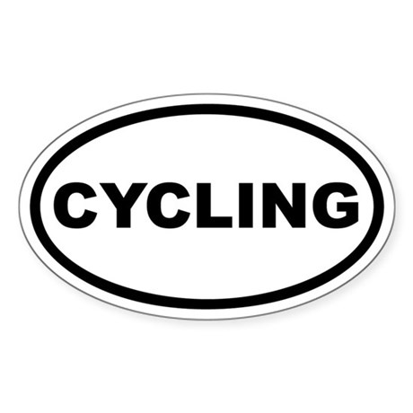 Cycling Euro Oval Sticker
