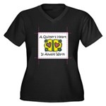 A Quilter's Heart - Warm Women's Plus Size V-Neck