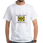 A Quilter's Heart - Warm White T-Shirt
