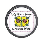 A Quilter's Heart - Warm Wall Clock