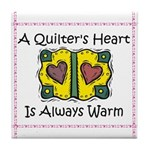 A Quilter's Heart - Warm Tile Coaster