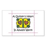 A Quilter's Heart - Warm Rectangle Sticker