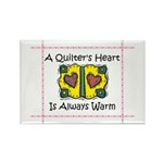 A Quilter's Heart - Warm Rectangle Magnet (10 pack