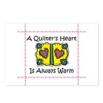 A Quilter's Heart - Warm Postcards (Package of 8)