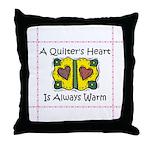 A Quilter's Heart - Warm Throw Pillow