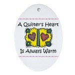 A Quilter's Heart - Warm Oval Ornament