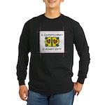 A Quilter's Heart - Warm Long Sleeve Dark T-Shirt