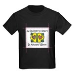 A Quilter's Heart - Warm Kids Dark T-Shirt