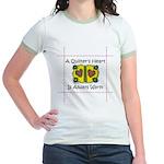 A Quilter's Heart - Warm Jr. Ringer T-Shirt