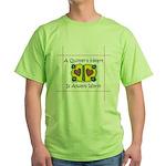 A Quilter's Heart - Warm Green T-Shirt