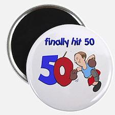 "finally hit 50 2.25"" Magnet (100 pack)"