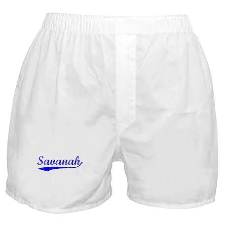 Vintage Savanah (Blue) Boxer Shorts
