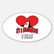8th Celebration Oval Decal