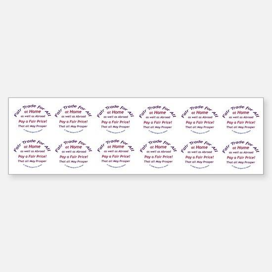 Fair Trade for All Bumper Car Car Sticker