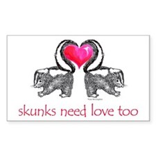 skunks need love too Rectangle Decal