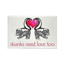 skunks need love too Rectangle Magnet