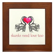 skunks need love too Framed Tile