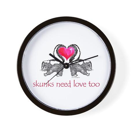 skunks need love too Wall Clock