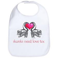 skunks need love too Bib