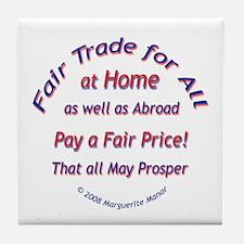 Fair Trade for All Tile Coaster