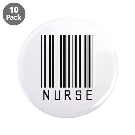 "Nurse Barcode 3.5"" Button (10 pack)"