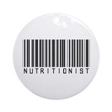 Nutritionist Barcode Ornament (Round)
