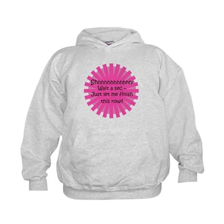 Just Let Me Finish This Row - Knit Kids Hoodie