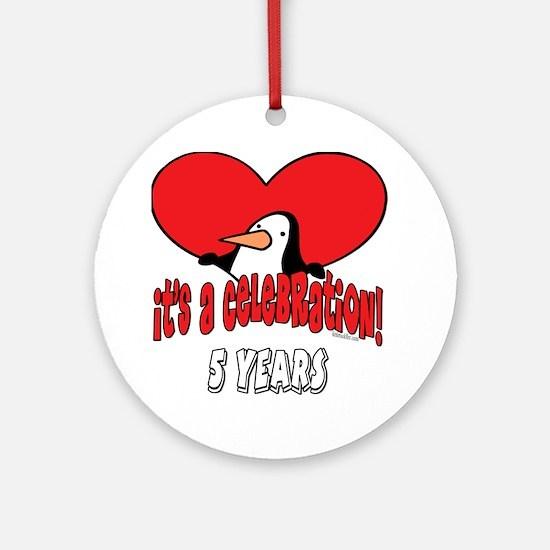 5th Celebration Ornament (Round)