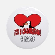 4th Celebration Ornament (Round)