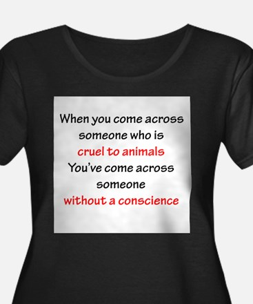 Abuse without a Conscience Plus Size T-Shirt