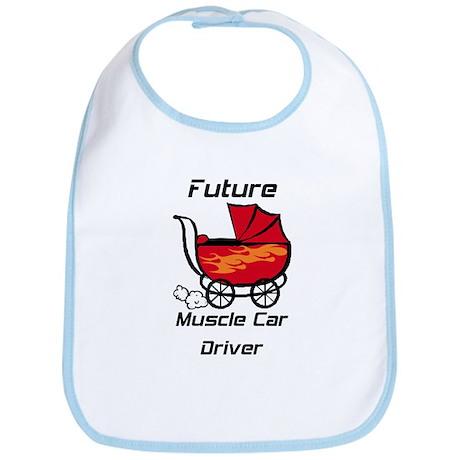 Future Muscle Car Driver Stroller Bib