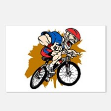 Crazy Mountain Biker Postcards (Package of 8)