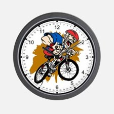 Crazy Mountain Biker Wall Clock