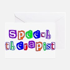 Speech Therapist Colors Greeting Card