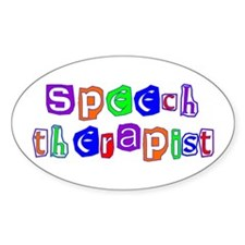Speech Therapist Colors Oval Decal