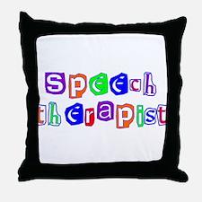 Speech Therapist Colors Throw Pillow