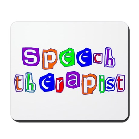 Speech Therapist Colors Mousepad