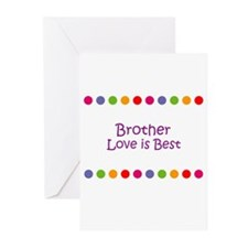 Brother Love is Best Greeting Cards (Pk of 10)
