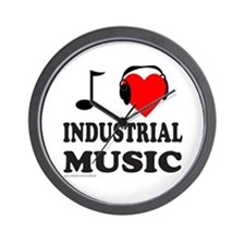INDUSTRIAL MUSIC Wall Clock
