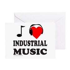 INDUSTRIAL MUSIC Greeting Card