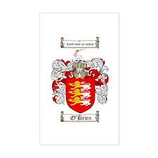 O'Brien Family Crest Rectangle Bumper Stickers