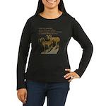John Muir Quote Women's Long Sleeve Dark T-Shirt
