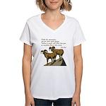John Muir Quote Women's V-Neck T-Shirt