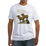 John Muir Quote Fitted T-Shirt