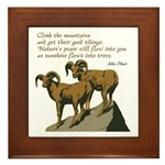 John Muir Quote Framed Tile