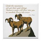John Muir Quote Tile Coaster